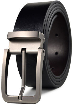 Men's Classic Metal Buckle Genuine Leather Dress Belt