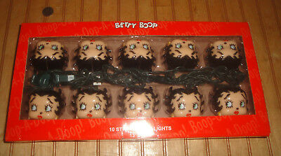Betty Boop Head 10 Light Party 13' String Set New in Box