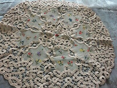 Beautiful Vintage Handmade Tulle Tablecloth