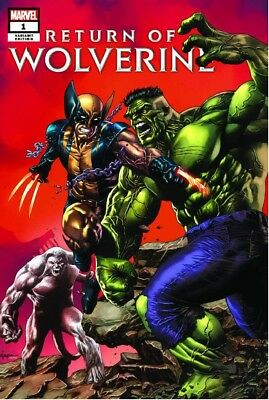 RETURN OF WOLVERINE #1 VARIANT SUAYAN TRADE X-MEN X-23 first homage HULK 181