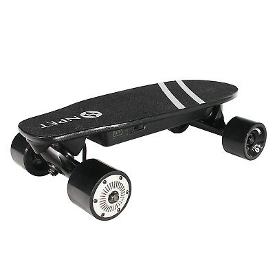 NPET Portable Mini Electric Motorized Skateboard with Remote Controller