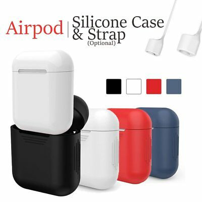 Anti-Lost Strap + Soft Silicone Case Cover For Iphone 7/7P/8/8P Apple Airpods US