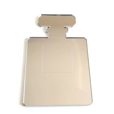 Perfume (Chanel Style) Bottle Etched Acrylic Mirror (Several Sizes Available)