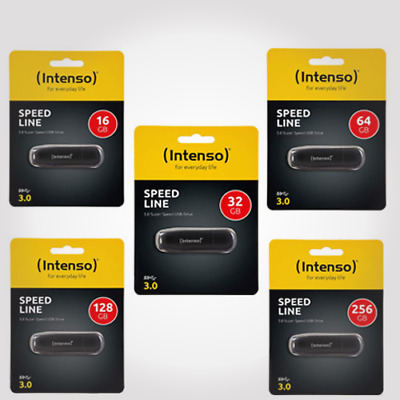 Intenso Speed Line USB 3.0 PC Notebook Speicher Stick 16GB 32GB 64GB 128GB 256GB