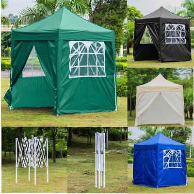 2X2M Waterproof Pop Up Gazebo Marquee Garden Awning Party Tent Sun Rain Canopy