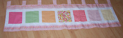 Tab Top Window Valance Pastel Multi Color Flowers Check Polka Dot 56.50 inches