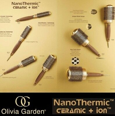 olivia garden ceramic + Ion Nano thermic hair brush professional round Thermal