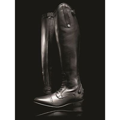Mark Todd Long Leather Competition Field Boots Std Black - Size 38 Standard - To