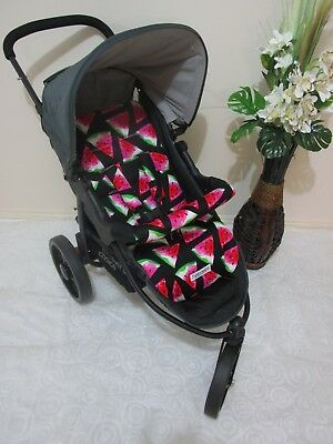 Handmade pram liner set-Sweet watermelon-100% cotton*Funky babyz