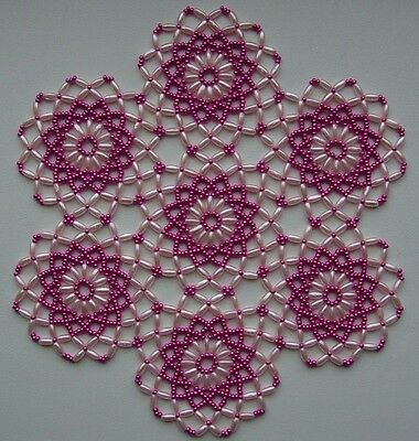 Handmade Beaded Doily Multi-Color