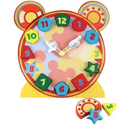Disney Mickey Mouse Wood Clock Puzzle with Stand