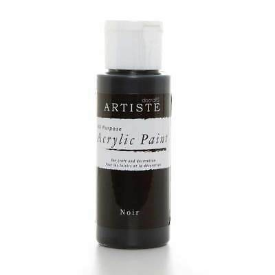 DoCrafts Artiste Noir (Black) Acrylic Craft Paint - 59ml / 2oz Bottle