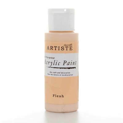 DoCrafts Artiste Flesh Acrylic Craft Paint - 59ml / 2oz Bottle