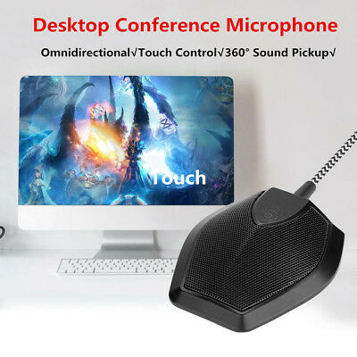 USB Wired Speaker Conference Video Meeting Omnidirectional Condenser Microphone