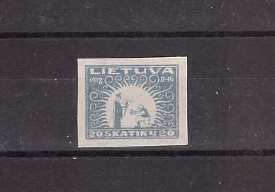 Lithuania 1920 Mi. No. 67 Second Anniversary of Independence issue Imperforated