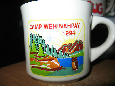 BSA Boy Scouts Coffee Mug CAMP WEHINAHPAY 1994 - Scout Ranch New Mexico
