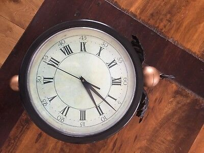 Perfect condition large wall clock with bracket to hang it on the wall.