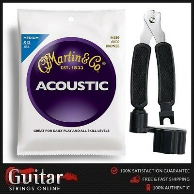"""Martin M150 Acoustic Guitar Strings 13-56 + 3 in 1 String Winder Cutter  """"NEW"""""""