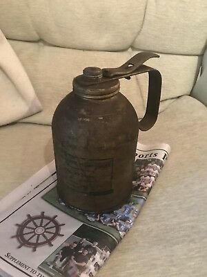 Vintage  Oil Tin Can Eagle Hydraulic Pump 1Qt Metal Wellsburg W.VA No 29