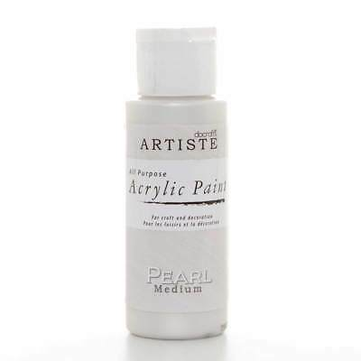 DoCrafts Artiste Pearl Medium Acrylic Craft Paint - 59ml / 2oz Bottle