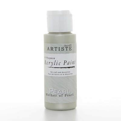 DoCrafts Artiste Mother of Pearl Acrylic Craft Paint - 59ml / 2oz Bottle