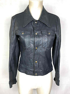CULT VINTAGE '70 Giacca Giubbotto Donna Pelle Woman Leather Jacket Sz.S - 40
