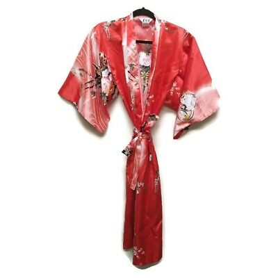 Adult Kimono Halloween Costume Robe Geisha One Size Red Made in Japan