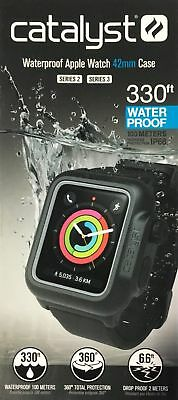Genuine Catalyst Waterproof Case for 42mm Apple Watch Series 3 Stealth Black UD