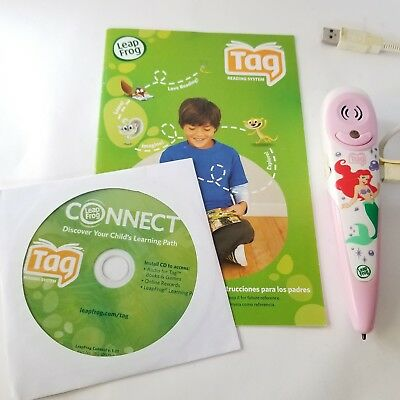 Leap Frog Tag Touch Reader Pink & White Stylus Pen LIttle Mermaid N2390 #60071