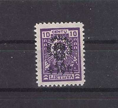 Lithuania 1924 AJ No. 227I WM vertical honeycombs MH