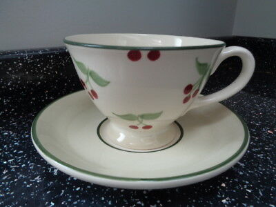 Laura Ashley Berries Breakfast Cup And Saucer