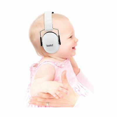 BEBE Muff Hearing Protection - BEST USA Certified Ear Muffs, Ivory White, 2 y...
