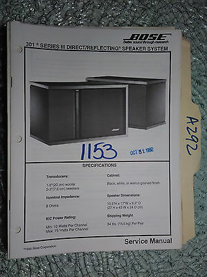 original bose acoustimass 5 series iii speaker system service manual rh picclick com bose acoustimass 5 series ii service manual Acoustimass 5 Review