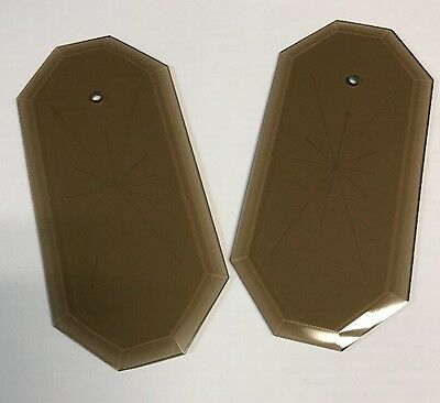1Vintage Beveled 8 Sided Starburst Amber Glass Panel Lamp Chandelier Replacement