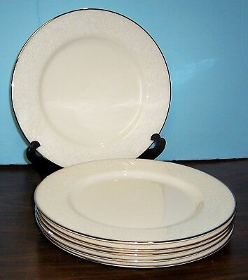 """Lot Of 6 Gorham Bridal Bouquet Dinner Plates 10 5/8"""" Never Used Free U S Ship"""