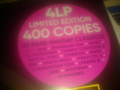 Various ‎– Mayday - 25 Years (The History Of Rave)  4 Vinyls Original Packed