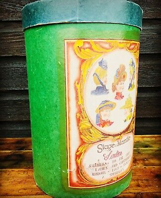 Victorian Vintage Milliners Decorative Hat Storage Box Paper Bin