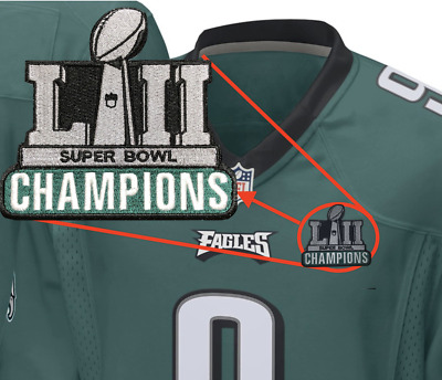 Philadelphia Eagles Champions Football Jersey Patch - 2018 Super Bowl Foles  LII 286c7187e