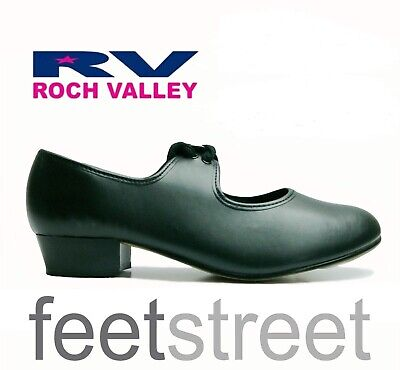 Black and White Tap Shoes by Roch Valley Fitted Toe & Heel Taps UK ch 8  to 5.5