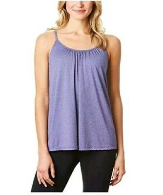22bcb4e167 NEW 32 Degrees Cool Ladies Camisole cami Built in Bra NWT tank SMALL PURPLE