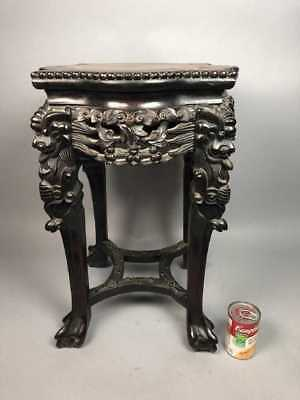 Antique Chinese Export Marble top rosewood table/ Stand 24 inches
