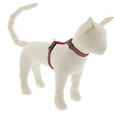 """NEW Red Southwestern Dog or Cat Harness 1/2"""" in El Paso by Lupine Pet"""
