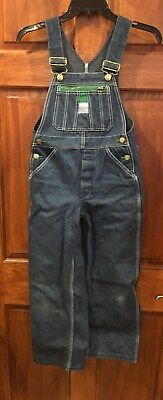 LIBERTY Bib Overalls Denim Button Fly Youth Size 10R