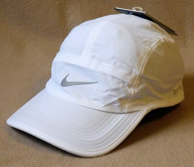 bac86542 ... free shipping nike aw84 dri fit adjustable reflective unisex running cap  546004 white nwt 0799f 9d3b3