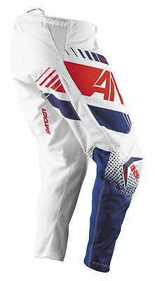 Answer A17 Youth Kids Syncron White Red MX Motocross Offroad Riding Race Pants