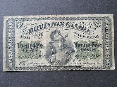 1870 Dominion of Canada - 25 Cents - Plain Series