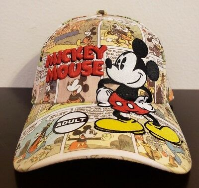 Disney Mickey Mouse Comic Cartoon Youth Baseball Cap Hat - New With Tags
