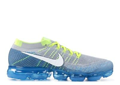 low priced 3a30d 2aedb New Nike Air Vapormax Flyknit Sprite Wolf Grey Chlorine Blue 849558 022  Size10.5
