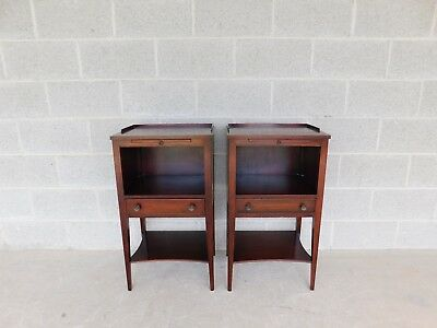 KINDEL Mahogany Hepplewhite Style Nightstands - A Pair