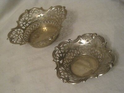 2 small vintage ornate England bowls bowl EPNS marked Victorian ? face detail